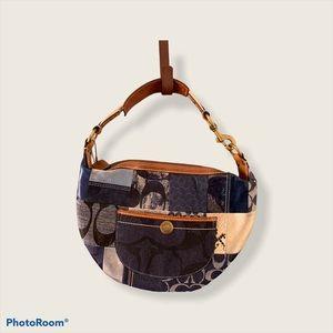 Authentic COACH Denim Patchwork purse. Style 10019